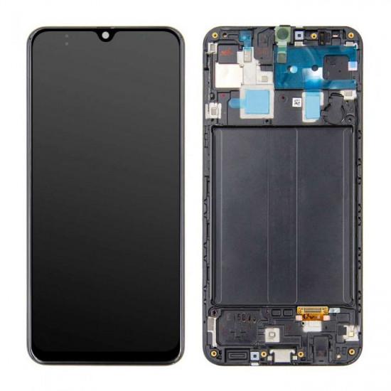 Touch+Lcd Com Frame Samsung Galaxy A30 2019 A305 Black