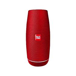 Coluna Bluetooth T&Amp;G Tg108 Portable Sem Fio Vermelho