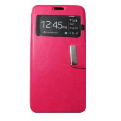 Flip Cover Com Janela Para Wiko Rainbow Jam Pink