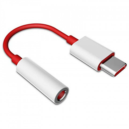Usb-c To Headphone Jack Adapter Universal Jh-e+ Red