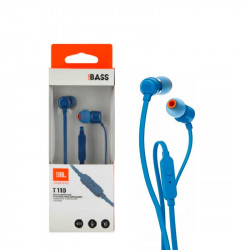 Earphones Jbl Tune 110 In Ear Micro 3.5mm Blue
