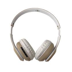 Headphones St36 Fm Radio, Support Tf Card Creme
