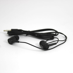 Headset D21 Extra Bass 3.5mm Ficha Black