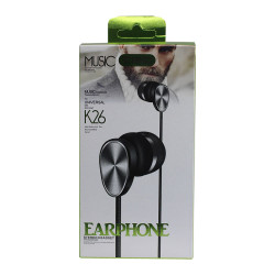 Headset K26 Extra Bass Black