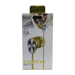 Headset K26 Extra Bass Gold