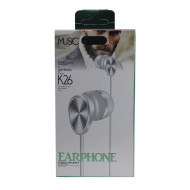 Headset K26 Extra Bass White