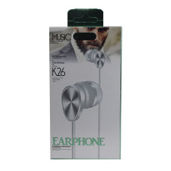 Headset K26 Extra Bass White