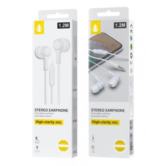 Auricular One Plus C5146 Branco 3.5mm Plug 1.2m Lenght