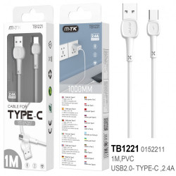 Cable Usb Tipo C Mtk Tb1221 White