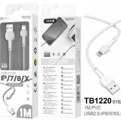 Cable Apple Mtk Tb1220 Branco For Iphone 7/8/X/Xr/11