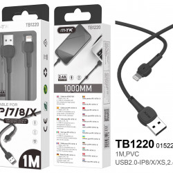 Cable Apple Mtk Tb1220 Black For Iphone 7/8/X/Xr/11