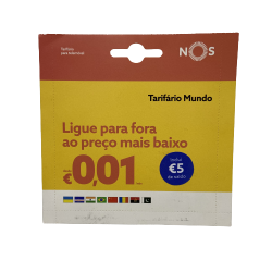 Cartão De Recarga Nos Tarifario Mundo €5 Saldo