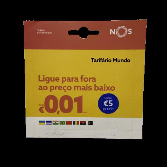 Nos Tarifario World Reload Card € 5 Balance
