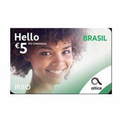 Cartão De Recarga Meo Hello Brasil