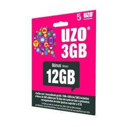 Cartão Sim Uzo 3gb / 5gb Gratis Para Apps / 500 Min / 1 Mes 12gb Bonus