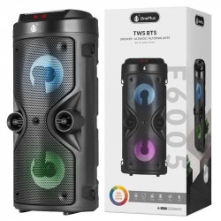 Bluetooth Speaker One Plus F6005 Black 10w, Bts 5.0, 1200mah,Rgb Led Light, Tws/U