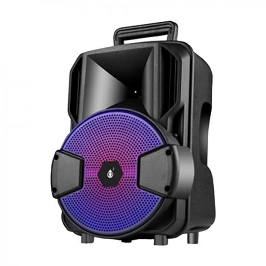 Coluna Bluetooth One Plus F6298 Preto Com Led Light, Fm Radio, Aux Cable Input, U Disk Play, Usb Charging