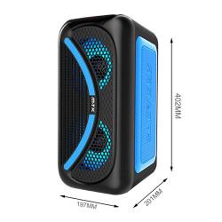 Speaker Mtk Tf4161 Blue Wireless, Led, Tf Card, Usb Support, Fm Radio, Tws Box