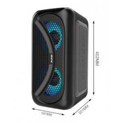 Speaker Mtk Tf4161 Black Wireless, Led, Tf Card, Usb Support, Fm Radio, Tws Box