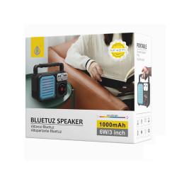 Bluetooth Speaker One Plus Nf4071 Blue 1000mah Bettery, U Disk, Usb Support, Tf Card, Fm Radio