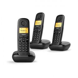 Telefone Sem Fio Gigaset A170 Triple Black