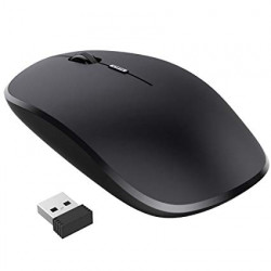 Wireless Mouse Oem 2.4ghz 10m Range Apple Shaped Black