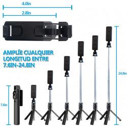 Selfie Stick Oem P20 Mini Wireless Remote Com Tripod Stand Black