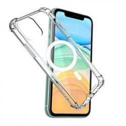 Capa Silicone Dura Anti-Choque Apple Iphone 12 Mini Transparente Magsafe