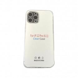 "Capa Silicone Apple Iphone 12 / 12 Pro 6.1"" Transparent Camera Protector"