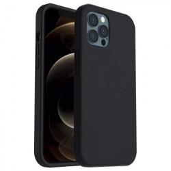 Silicone Cover Case Apple Iphone 12 / 12 Pro Black Matt