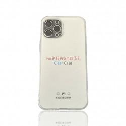 "Capa Silicone Apple Iphone 12 Pro Max 6.7"" Transparente Protetor De Camera"