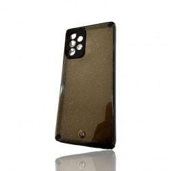 Capa Silicone Dura Com Desenho Brilhante Samsung Galaxy A52 4g / 5g Preto Protetor De Camera