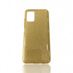 Capa Silicone Gel Brilhante Samsung Galaxy A03s Dourado