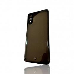 Capa Silicone Dura Com Desenho Brilhante Samsung Galaxy A02 / A022 Preto Protetor De Camera