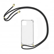Cover Anti-Shock Samsung Galaxy M21 Transparente with Rope