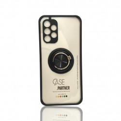 Capa Silicone Anti-Choque Anel De Dedo Samsung Galaxy A32 4g Preto Bumper