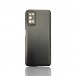Capa Silicone Gel Samsung Galaxy A03s Preto Protetor De Camera