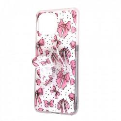 Capa Silicone Com Desenho Bling Glitter Samsung Galaxy A22 5g Rosa Clara Borboleta
