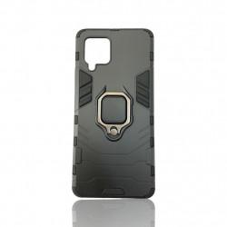 Capa Silicone Dura E Metal Com Anel De Dedo Samsung Galaxy A42 5g / A426 Preto