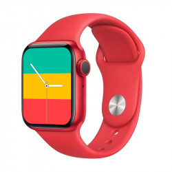 Smartwatch Oem T500 Plus Series 6 Red Space Aluminum Case 44mm For Apple And Android