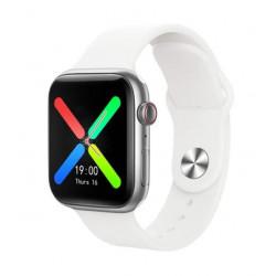 Smartwatch Oem T500 Plus Series 6 Branco Space Aluminum Case 44mm Para Apple E Android