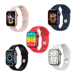 Smartwatch Oem T500 Plus Series 6 Pink Space Aluminum Case 44mm For Apple And Android