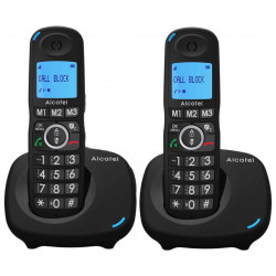 TELEFONE FIXO WIRELESS ALCATEL XL535 DUO BLACK